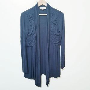 Philosophy Ruched Open Stretch Cardigan Size M